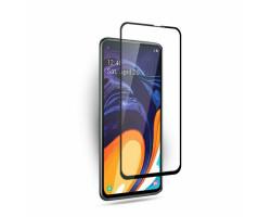 Защитное стекло на Samsung Galaxy A60 с черными рамками