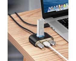 Адаптер Baseus Square Round 4 in 1 USB HUB