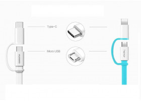 Кабель Huawei micro USB, USB Type-C - USB белый